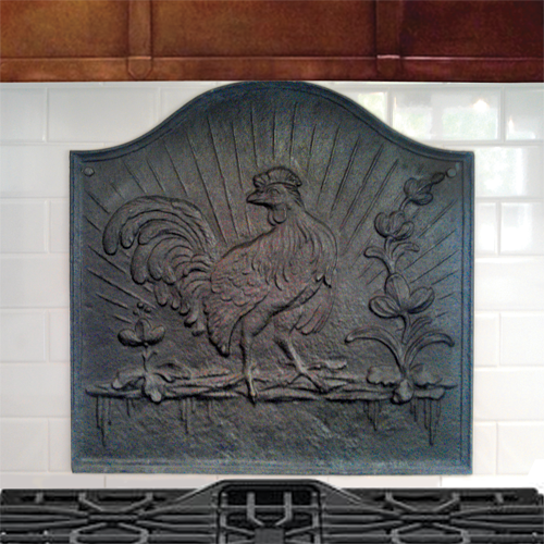 Sunrise Rooster Backsplash
